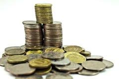 Russischer Münzenstapel Lizenzfreie Stockfotografie