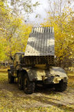 Russischer mehrfacher Produkteinführungsraketen-System BM-21 Absolvent Stockbild