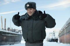 Russischer Milizsoldat Stockfotos