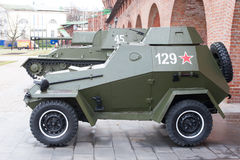 Russischer Panzerkampfwagen stockfotos