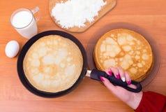 Russischer Pfannkuchen Blini Stockfotografie