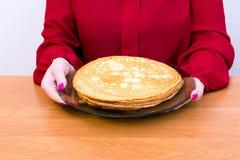 Russischer Pfannkuchen Blini Stockfoto