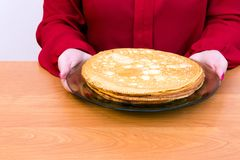 Russischer Pfannkuchen Blini Lizenzfreies Stockbild
