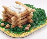 Russischer Pfannkuchen mit soure Lizenzfreie Stockbilder