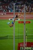Russischer Polevaulter bricht Weltrekord Lizenzfreie Stockbilder