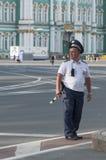 Russischer Polizeibeamte Stockfoto