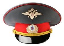 Russischer Polizeibeamte-Hut Lizenzfreie Stockfotos
