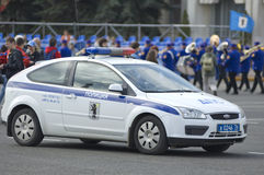 Russischer Polizeiwagen Lizenzfreie Stockbilder