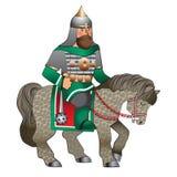 Russischer Ritter zu Pferd Stockbild