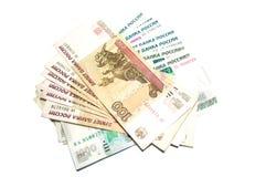 Russischer Rubel Stockfotografie