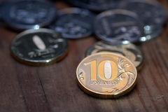 Russischer Rubel Stockfotos