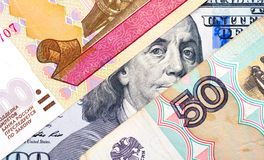 Russischer Rubel abwertung Stockbild