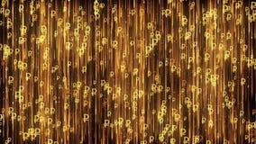 Russischer Rubel UNEBENHEITS-Goldhintergrund vektor abbildung