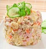 Russischer Salat - Olivier Lizenzfreies Stockbild