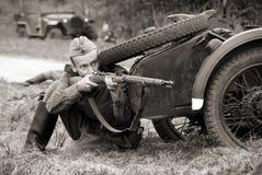 Russischer Soldat Stockfotografie