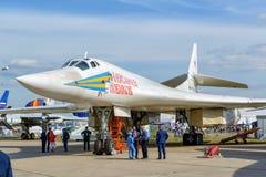 Russischer strategischer Bomber Überschalltupolev Tu-160 Stockfoto