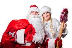 Russischer Vater Frost und Schnee-Maid Lizenzfreie Stockfotos