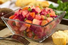 Russischer Wurzel-Salat Stockbild