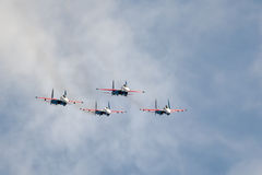 Russisches aerobatic Team Stockfotografie