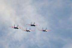 Russisches aerobatic Team Stockfotografie