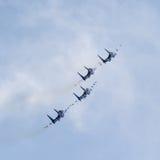 Russisches aerobatic Team Lizenzfreies Stockbild