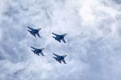 Russisches aerobatic Team Stockfoto