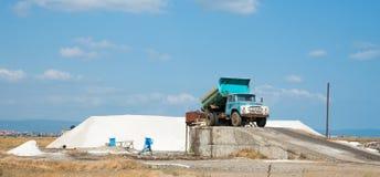 Russisches Auto und bulgarisches Salz Lizenzfreies Stockfoto