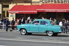 Russisches Auto Volga der Weinlese Stockfotografie