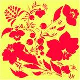 Russisches Blumenmuster Abbildung Lizenzfreie Stockfotografie