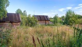 Russisches Dorf Paltsevo Lizenzfreies Stockfoto
