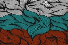 Russisches Flaggenmuster Lizenzfreies Stockbild