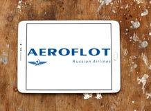 Russisches Fluglinienlogo Aeroflots Lizenzfreie Stockfotos