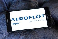 Russisches Fluglinienlogo Aeroflots Lizenzfreie Stockfotografie