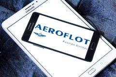 Russisches Fluglinienlogo Aeroflots Lizenzfreies Stockfoto