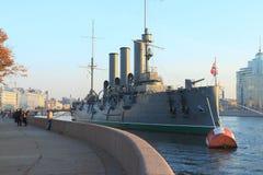 Russisches historisches Kriegsschiff Stockbild