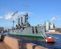 Russisches historisches Kriegsschiff Lizenzfreie Stockbilder