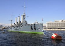 Russisches historisches Kriegsschiff lizenzfreie stockfotografie