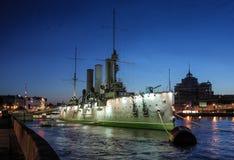 Russisches historisches Kriegsschiff Stockfotografie