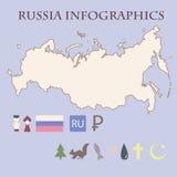 Russisches infographics Stockfotografie