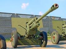 russisches Kanonengewehr ZiS3 der Abteilung 76-Millimeter Lizenzfreies Stockbild