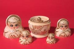 Russisches kleines Handwerk: matrioshka Stockbild