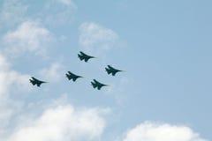 Russisches Kriegflugzeug Stockfotos