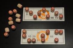 Russisches LottoBrettspiel lizenzfreies stockbild
