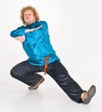 Russisches Mann-Tanzen lizenzfreie stockfotos