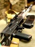 Russisches Maschinengewehrgewehr UDSSR AK-47kalaschnikow Stockfotos