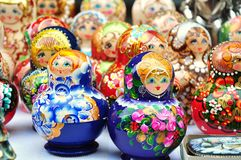 Russisches matrioshka Stockfotos