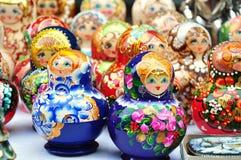Russisches matrioshka stockfotos