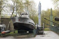 Russisches Militärboot stockbilder