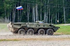 Russisches Militärinfanterie-gepanzertes MTW BTR-80 lizenzfreies stockbild