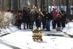 Russisches nationales Spiel ` Gorodok-` Lizenzfreie Stockfotografie